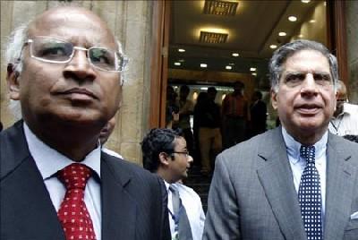 S Ramadorai with Ratan Tata