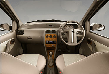 Interior view of  Tata Indigo e-CS VX.