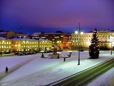 The Senate Square in Helsinki, Finland.
