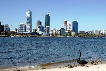 The Swan River, Perth.