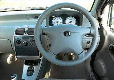 Interior view of Indica eV2 Xeta.