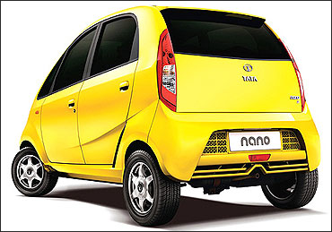 Rear view of Nano.
