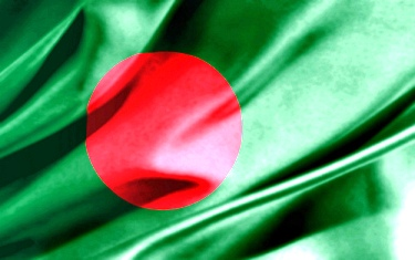 The Bangladeshi flag.