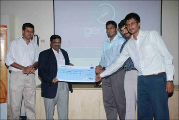The winning Team from IIT Madras has five members -- Vinay Sridhar, Lohit Vankina, Vishruth Srinath, Arun Chandran and Ananth Jain.