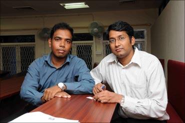 Hari Kishore and Srinivasa Raju Namburi.