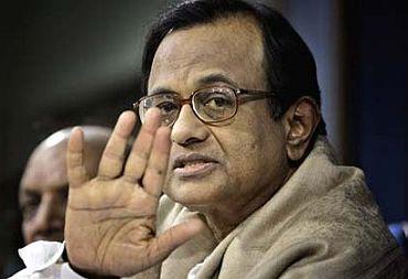 Home Minister P Chidambaram.