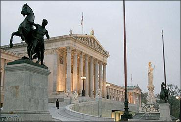 Austrian Parliament in Vienna.