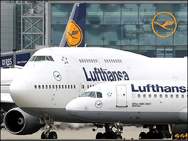 Lufthansa planes.