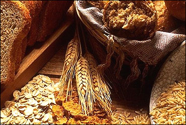 Cereal grains.