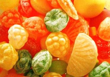 Sugar candies.