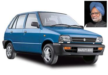 Manmohan Singh owns Maruti 800.