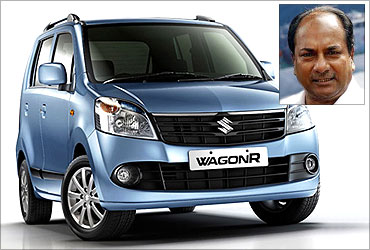 AK Antony has Wagon R.