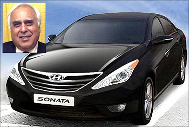 Kapil Sibal has spent nearly Rs 80,000 on cars.