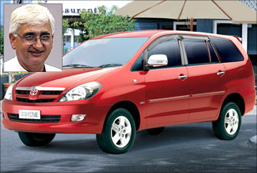 Salman Khursheed owns Mahindra Jeep and Innova.