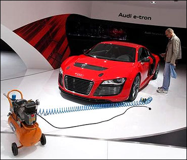 Spectacular images from the Frankfurt Motor Show 2011