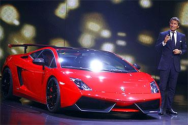The new Gallardo super sports car