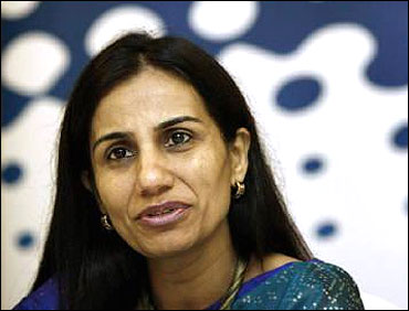 Chanda Kochhar speaks during a summit in Mumbai.