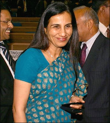 ICICI Bank CEO Chanda Kochhar at the launch of Swabhiman, the financial inclusion campaign.