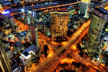 Seoul under the lights.