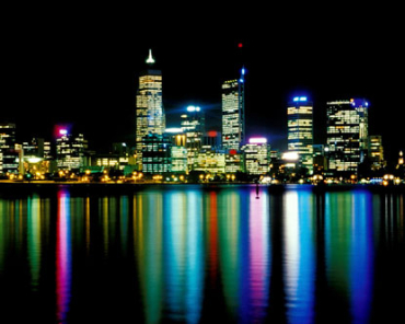 Perth under the lights.
