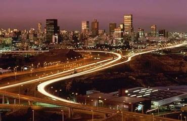 Dazzling Johannesburg.