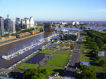 Green and lovely Buenos Aires.