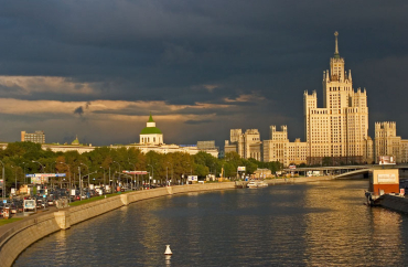 Moscow by the river.