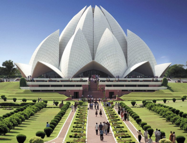 Lotus Temple in New Delhi.