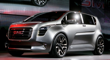 The GMC Granite concept truck is introduced at a press preview in Detroit.