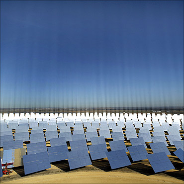 A general view of a solar plant.