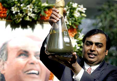 Mukesh Ambani, Chairman, Reliance.