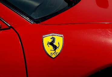The Ferrari logo.