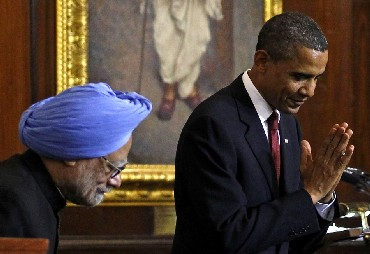 U.S. President Barack Obama and India's Prime Minister Manmohan Singh