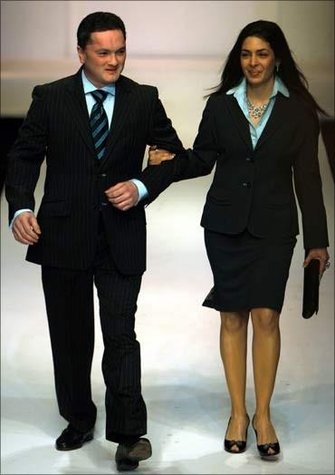 Raymond's boss Gautam Singhania with his wife
