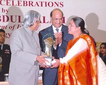 Jyoti Naik with APJ Kalam