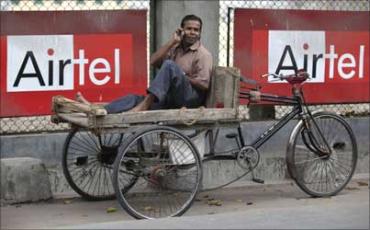 India's teledensity has risen to 73.97 per cent in 2011.