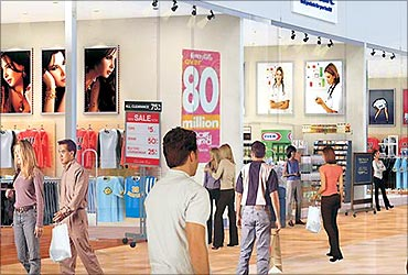 Shopping festival in December.