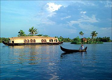Kerala's backwaters.