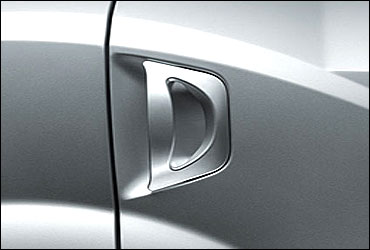 Paw-style door handles.
