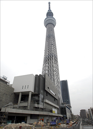 The Tokyo Sky Tree is seen in downtown Tokyo.