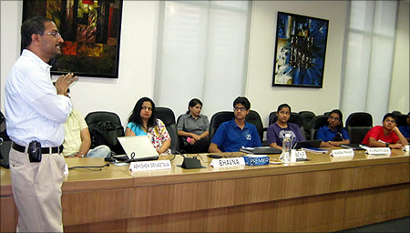 A session with students.