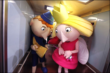 Characters of toys 'Ben and Holly'.