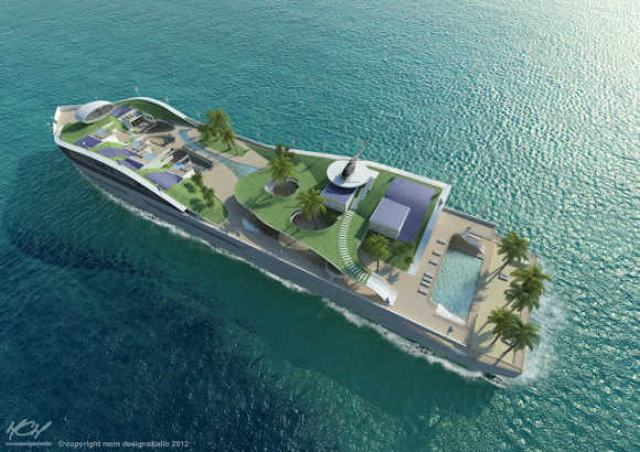 Is it a yacht or an island?