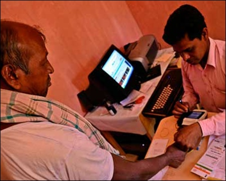 Charka Pahan, a farm worker from Ratu's Tarup village, is unable to receive MNREGA payments through the Aadhaar-enabled Micro ATM as his fingerprints cannot be authenticated by the biometric scanner.