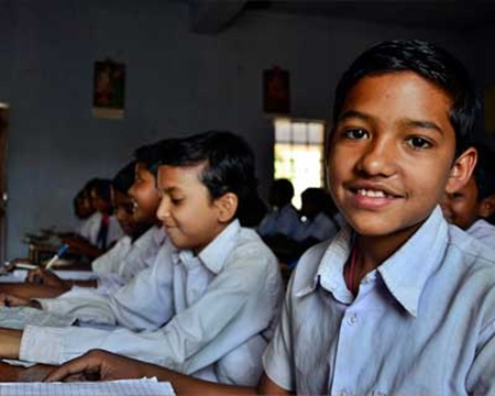 Children for a government school in Seraikela-Kharsawan District, many of whom are likely to become Aadhaar beneficiaries soon.