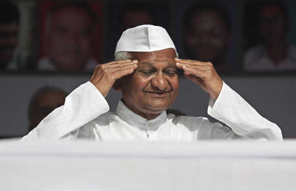 Anti-corruption crusader Anna Hazare. System crashes uncover a lot of past corruption.