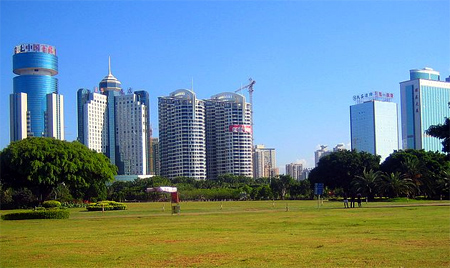 Haikou skyline.