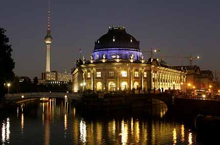 A view of the Spree River and the Bode Museum in Berlin