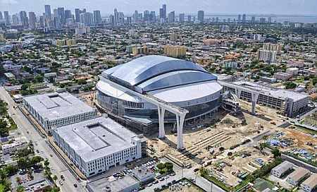 The New Marlins Ballpark stadium