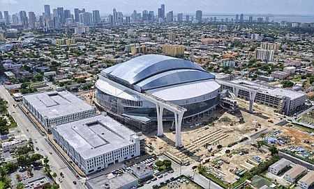 The New Marlins Ballpark stadium